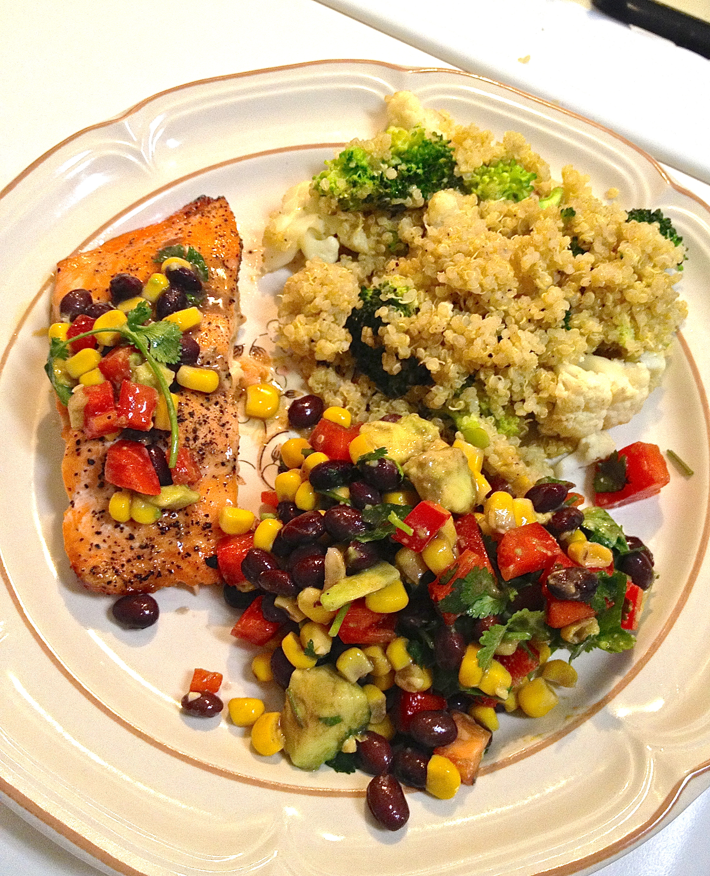 grilled salmon with black bean and corn salsa cooking from the heart. Black Bedroom Furniture Sets. Home Design Ideas