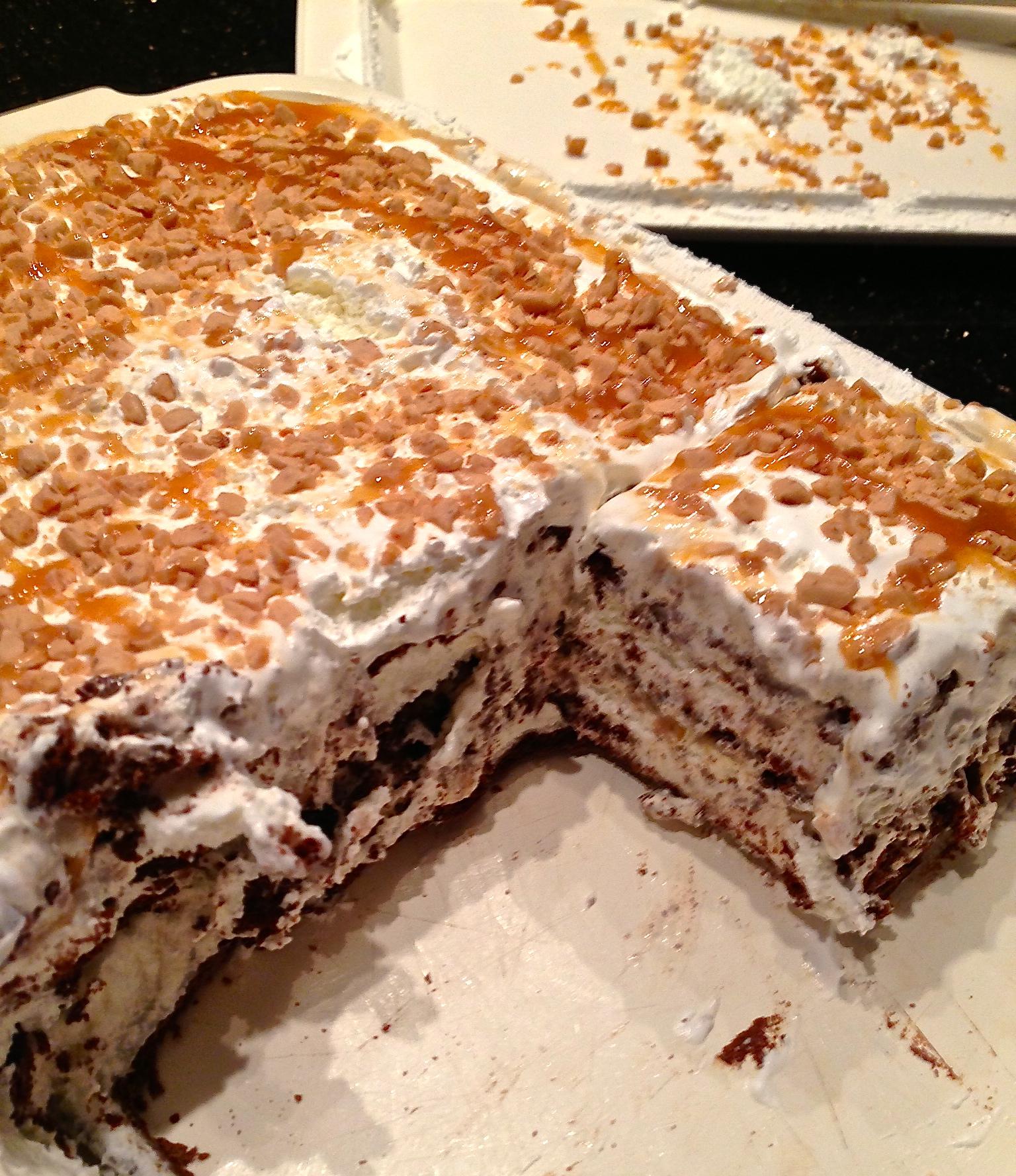 Heath Bar Ice Cream Sandwich Cake